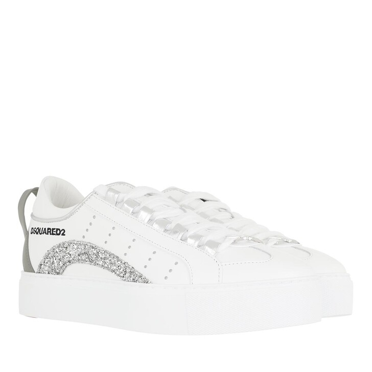 Schuh, Dsquared2, High Box Sole Sneakers Leather White
