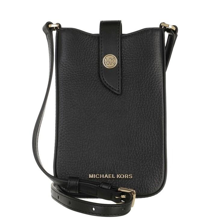Handtasche, MICHAEL Michael Kors, Small Phone Handbag Leather Black