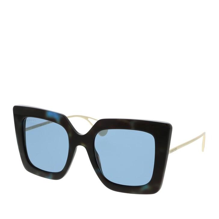 Sonnenbrille, Gucci, GG0435S-004 51 Sunglass WOMAN ACETATE HAVANA