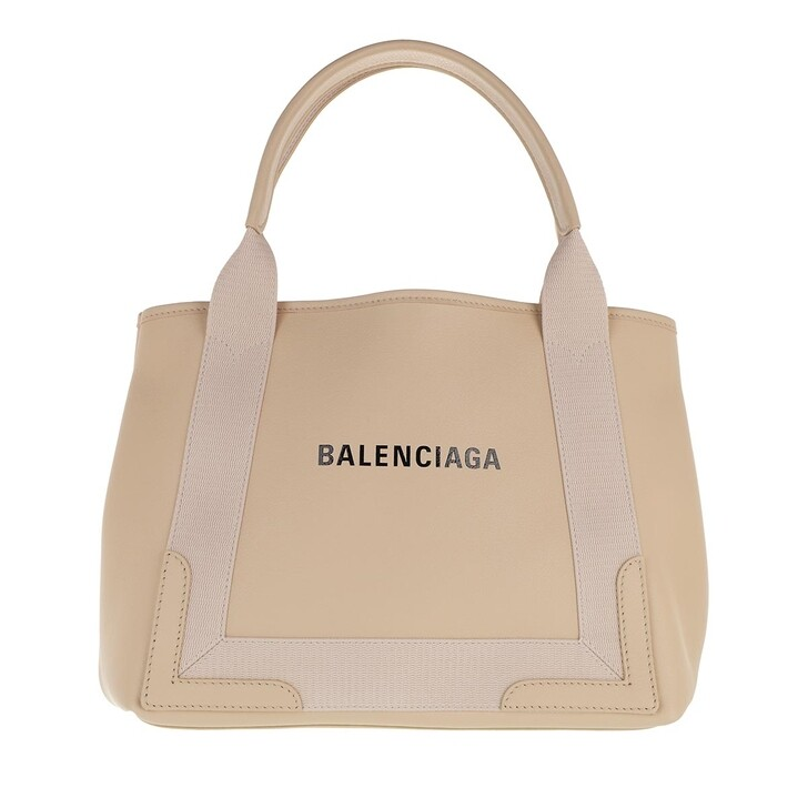Handtasche, Balenciaga, Cabas Small Tote Bag Leather Light Beige