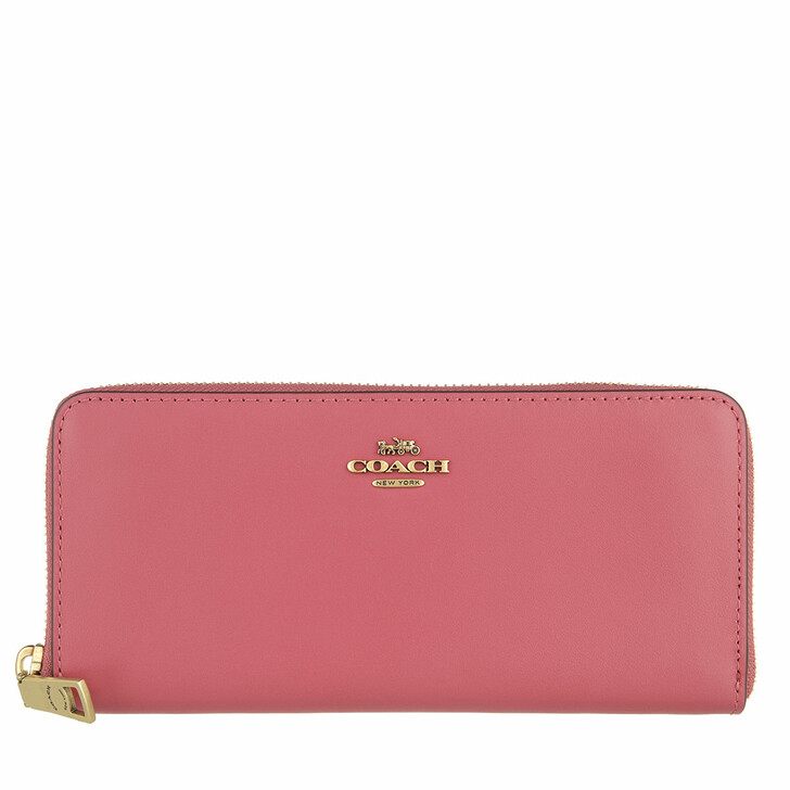 wallets, Coach, Smooth Leather Slim Accordion Zip B4/Rouge