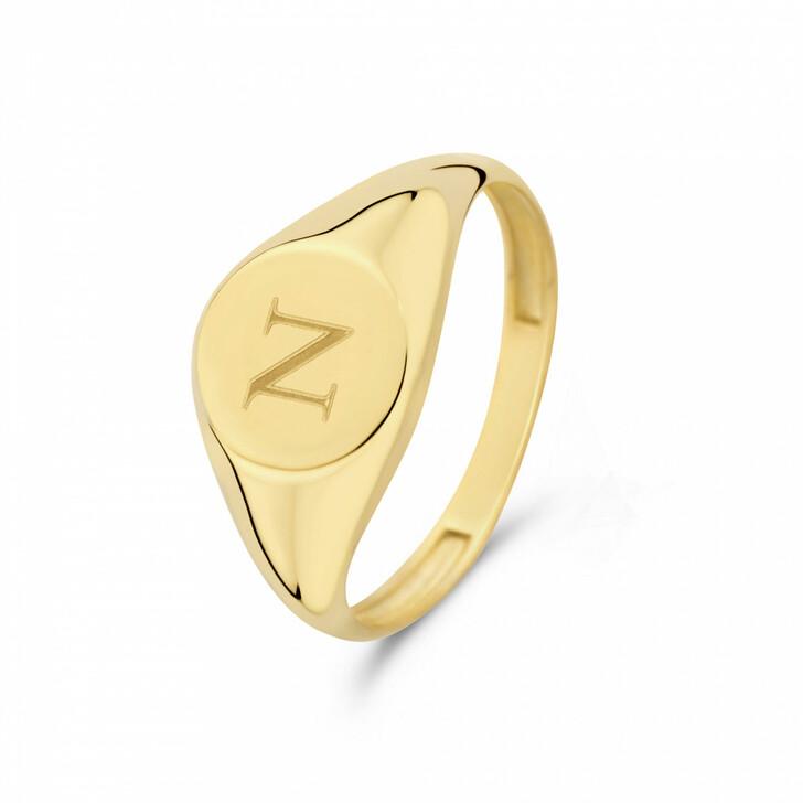 rings, Isabel Bernard, Le Marais Lauren 14 Karat Signet Ring Letter N