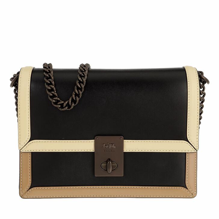 Handtasche, Coach, Colorblock Hutton Shoulder Bag Black Multi