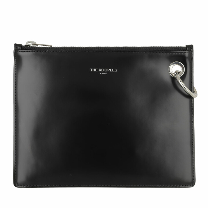 Handtasche, The Kooples, Leather Ice Pochette Black