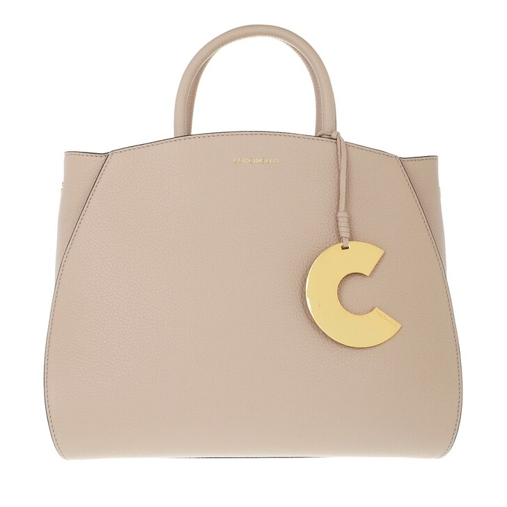 bags, Coccinelle, Concrete Handle Tote Bag Powder Pink