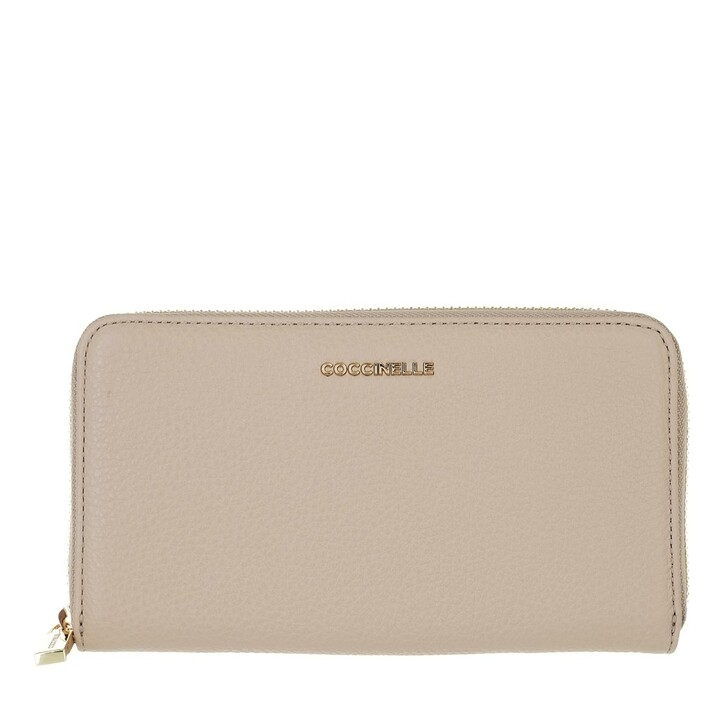 wallets, Coccinelle, Wallet Grainy Leather  Powder Pink