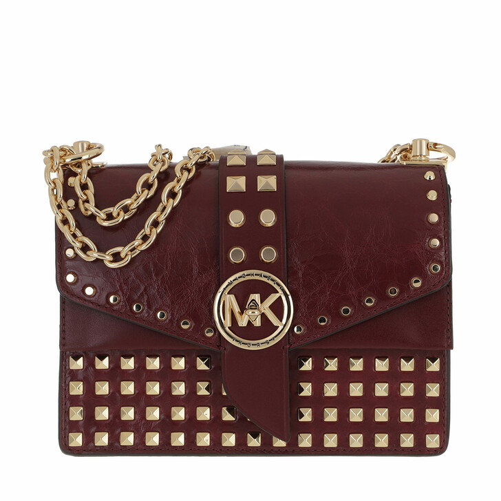 bags, MICHAEL Michael Kors, Small Conv Xbody Dark Berry