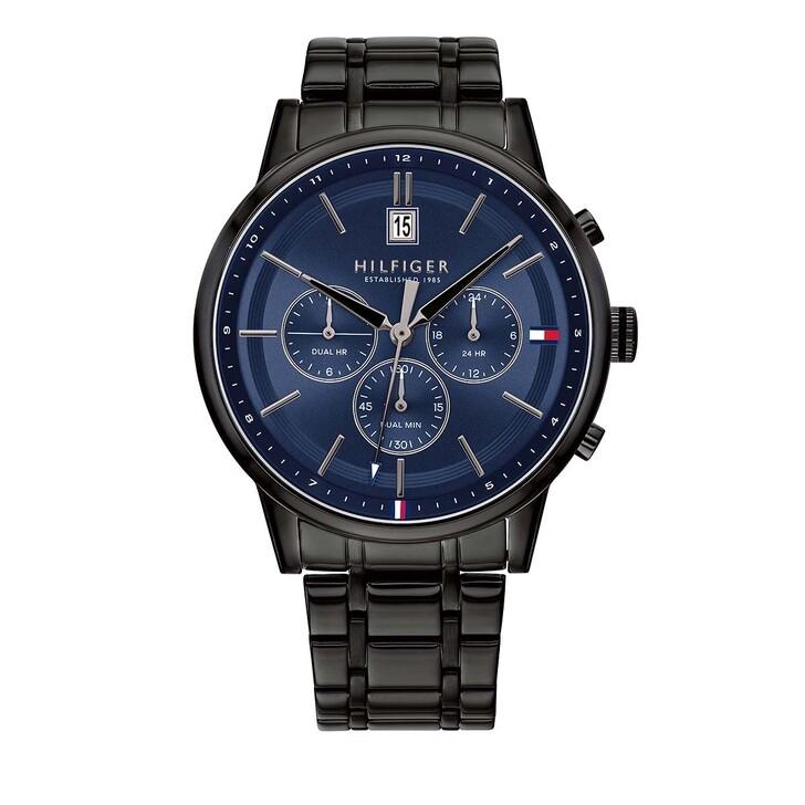 watches, Tommy Hilfiger, Men Multifunctional Watch 1791633 Black