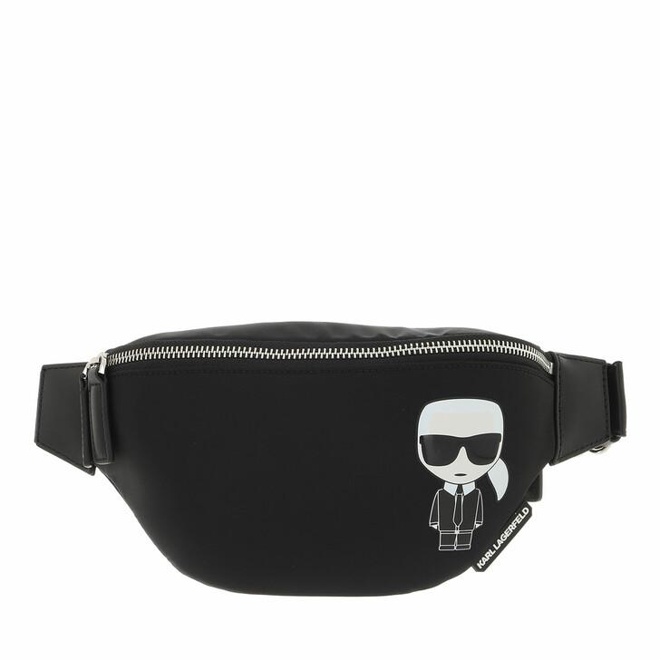 bags, Karl Lagerfeld, Ikonik Nylon Bumbag  Black