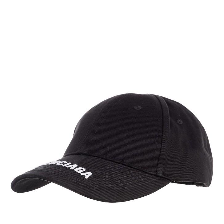 Mütze, Balenciaga, Embroidered Logo Cap Black/White