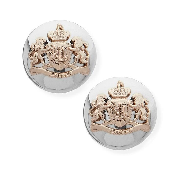 Ohrring, Lauren Ralph Lauren, Earrings Crest Stud Two Tone