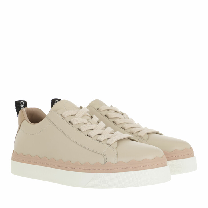 shoes, Chloé, Lauren Sneaker Smooth Leather Pink Tea