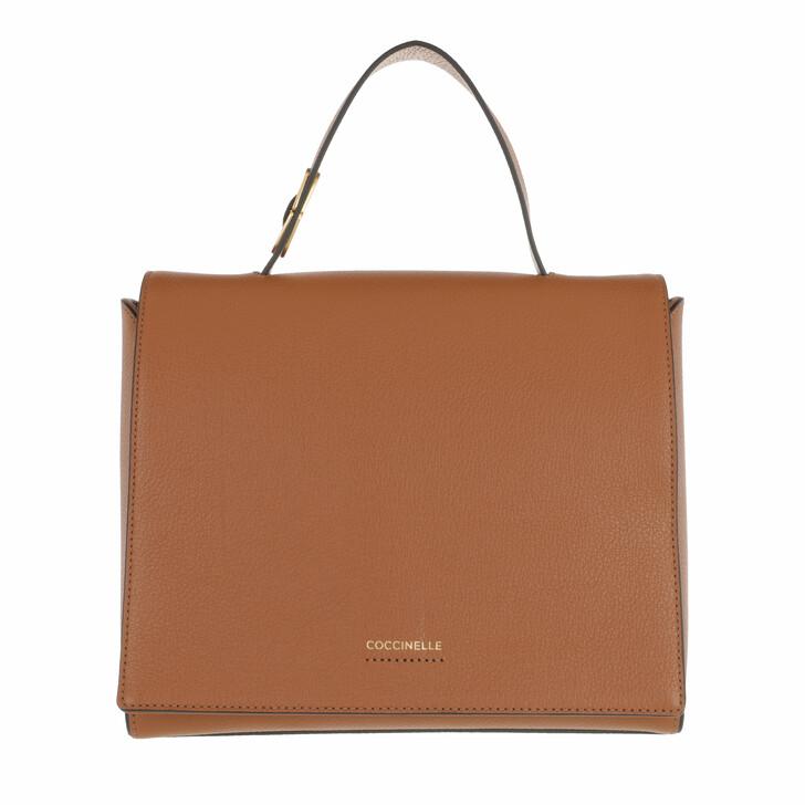 bags, Coccinelle, Josephine Handbag Grained Leather / Caramel Caramel