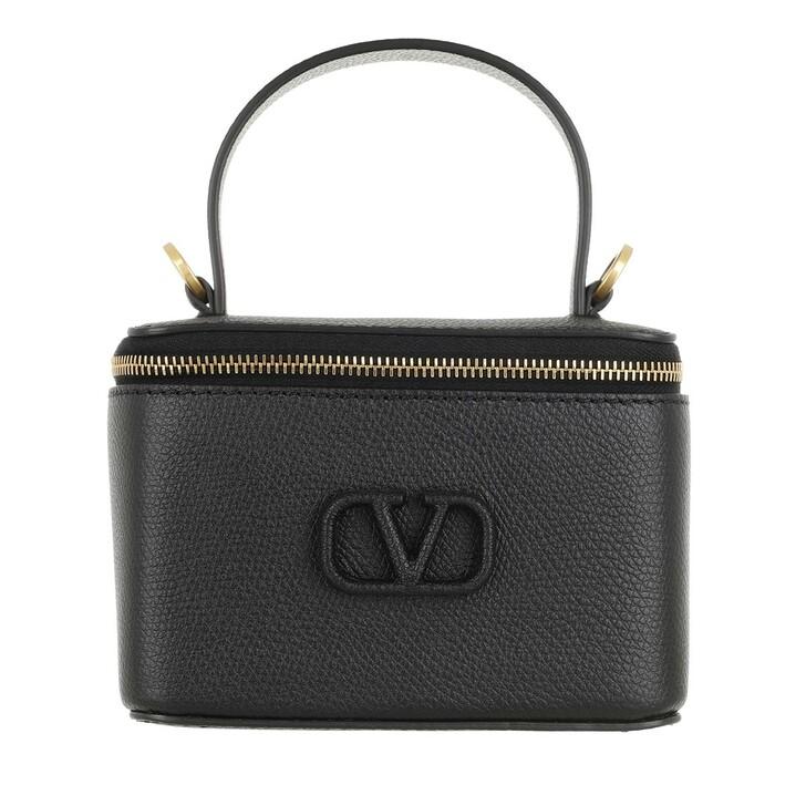 Handtasche, Valentino Garavani, VSling Pochette Leather Black
