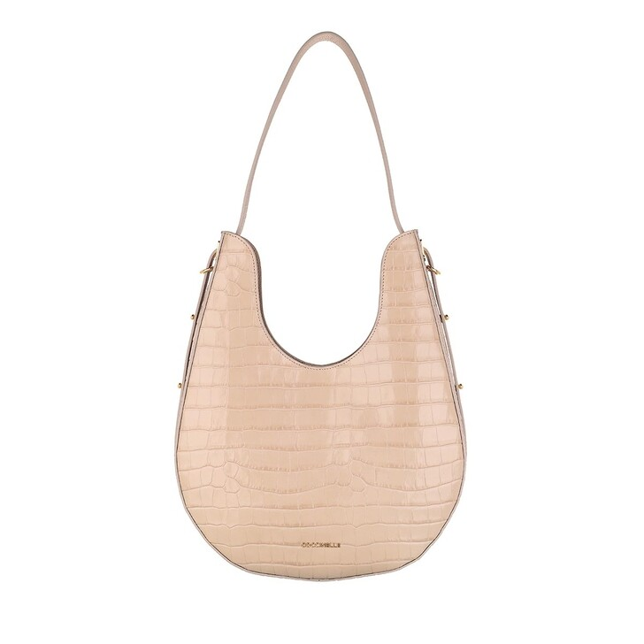 Handtasche, Coccinelle, Bagatelle Croco Shiny Soft Shopper Powder Pink