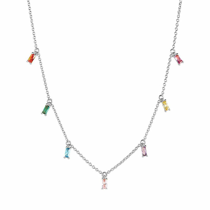 necklaces, Sif Jakobs Jewellery, Princess Baguette Necklace Sterling Silver 925
