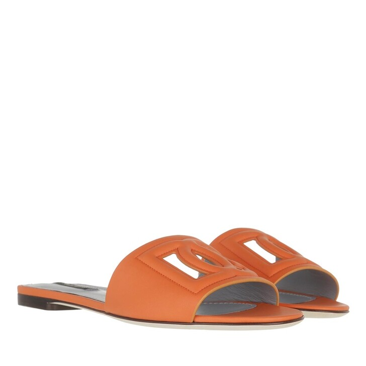 shoes, Dolce&Gabbana, Bianca Mules Orange