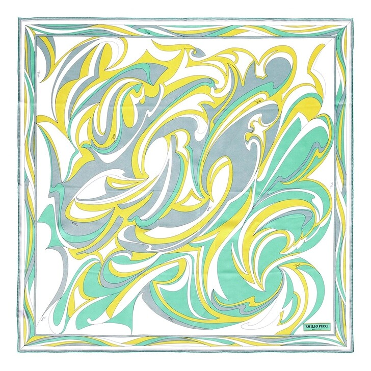 scarves, Emilio Pucci, Scarf 90X90 Salvia/Lime