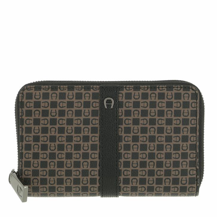 wallets, AIGNER, Adria Wallet Dadino Brown