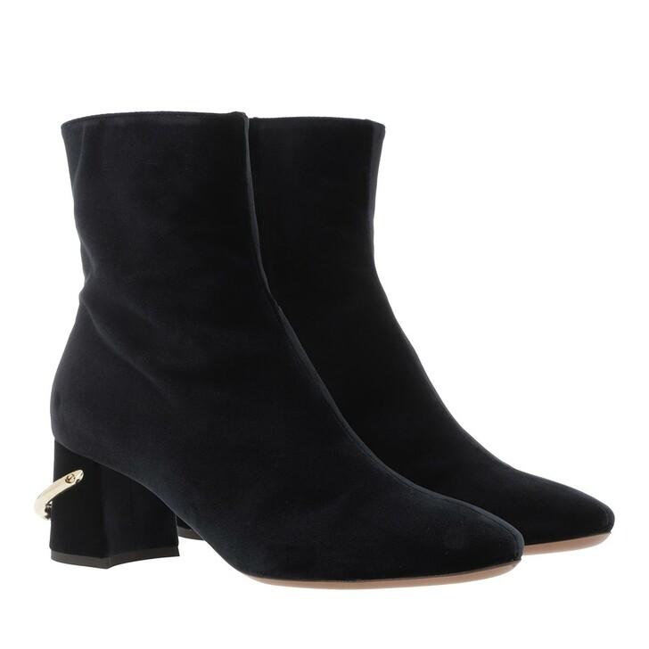 Schuh, L´Autre Chose, Ankle Boot Zip Velvet Dark Blue