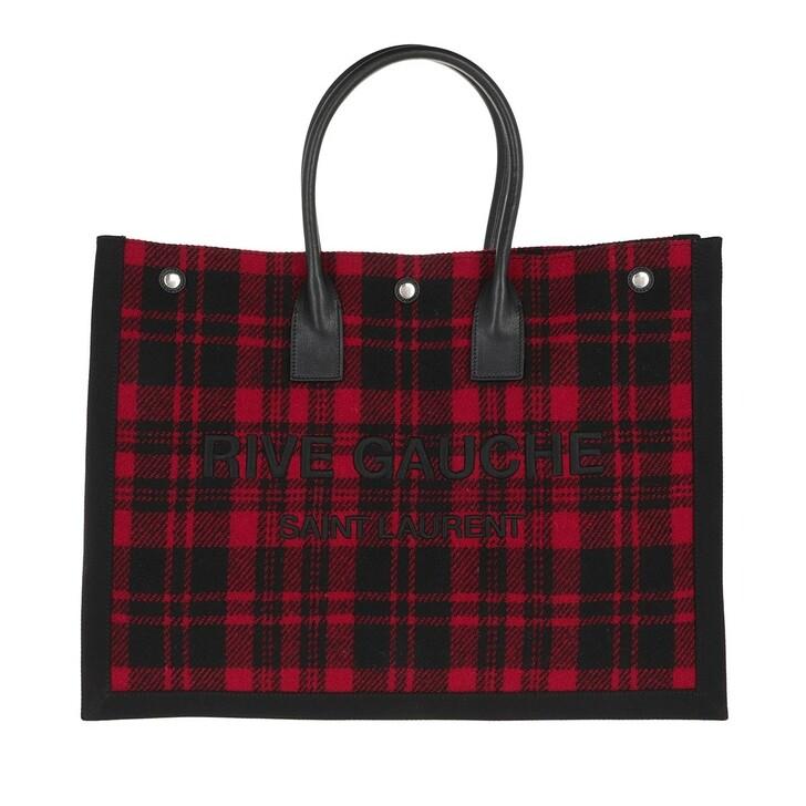 bags, Saint Laurent, Rive Gauche Tote Bag Noe Cabas Rosso Nero