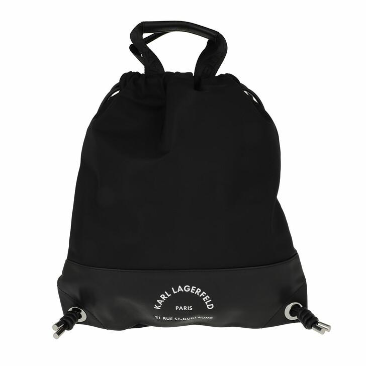 bags, Karl Lagerfeld, Rue St Guillaume Flat Backpack Nylon Black