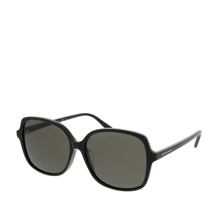 Sonnenbrille, Bottega Veneta, BV1053SA-001 59 Sunglasses Black-Black-Grey