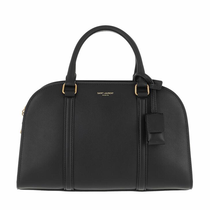 bags, Saint Laurent, Handle Bag Leather Black