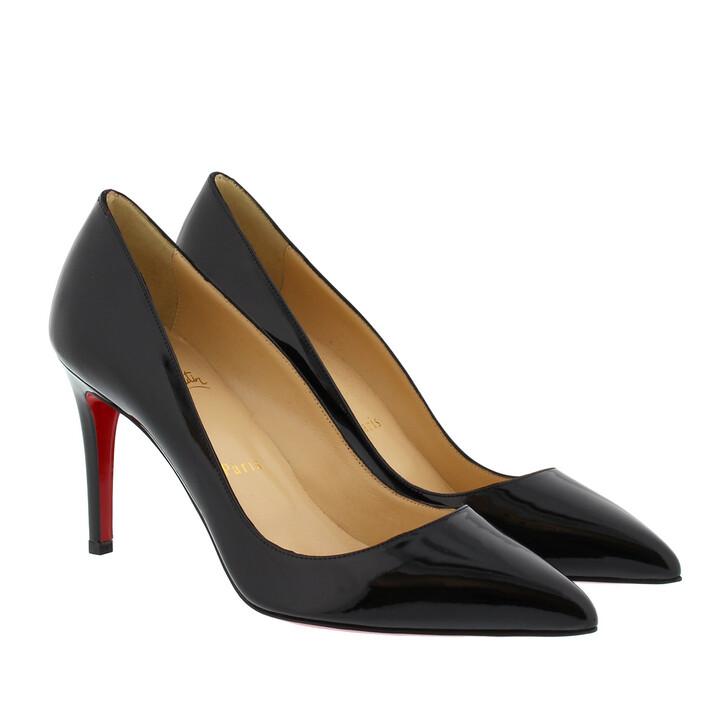 Schuh, Christian Louboutin, Pigalle 85 Patent Pump Black