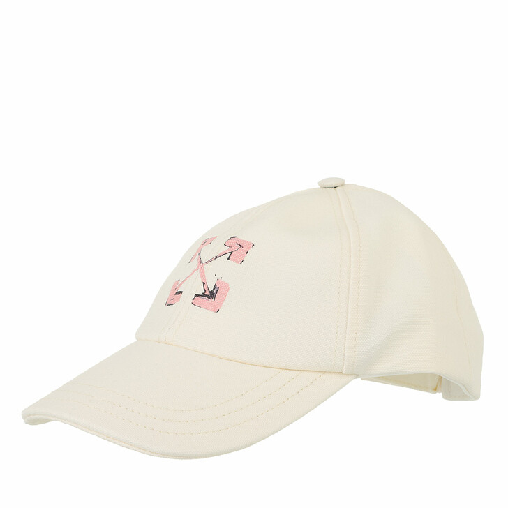 hats, Off-White, Arrows Baseball Cap Beige Beige/Pink