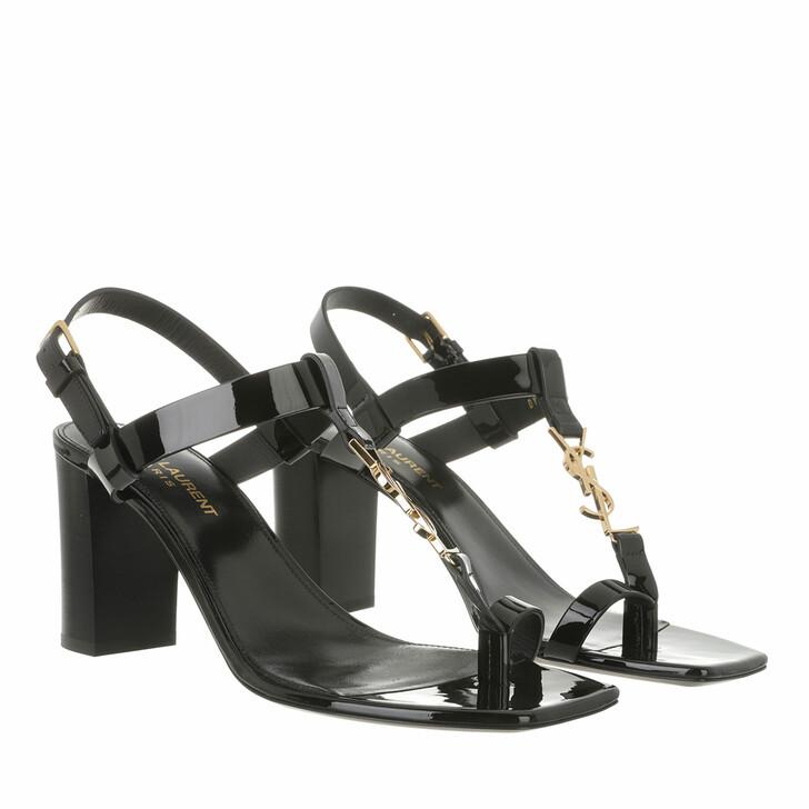 shoes, Saint Laurent, Cassandra Monogramm Sandals Black