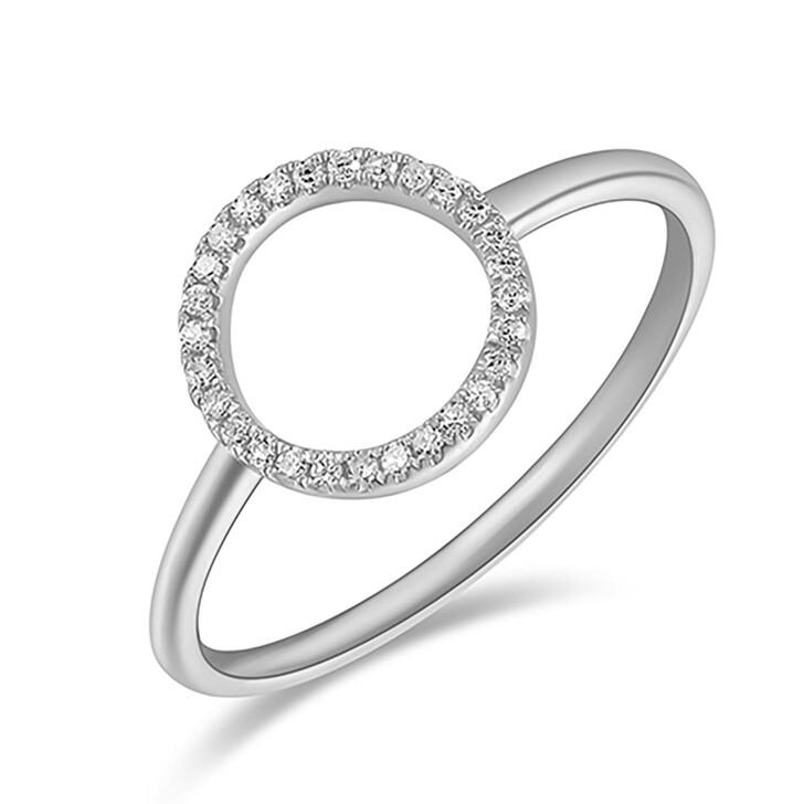 Ring, Leaf, Ring Circle Brilliant White Gold