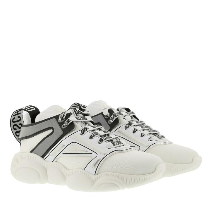 Schuh, Moschino, Sneaker Orso Ghetta Bianco