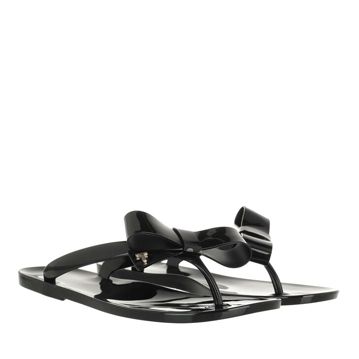 Schuh, Ted Baker, Bejouw Bow Detail Jelly Flip Flops Black