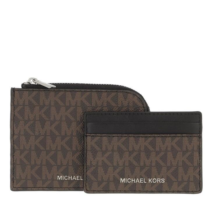 wallets, MICHAEL Michael Kors, 2 In 1 Wallet Brown/Black