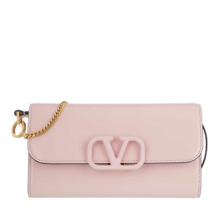 Handtasche, Valentino Garavani, V Sling Clutch Leather Pink