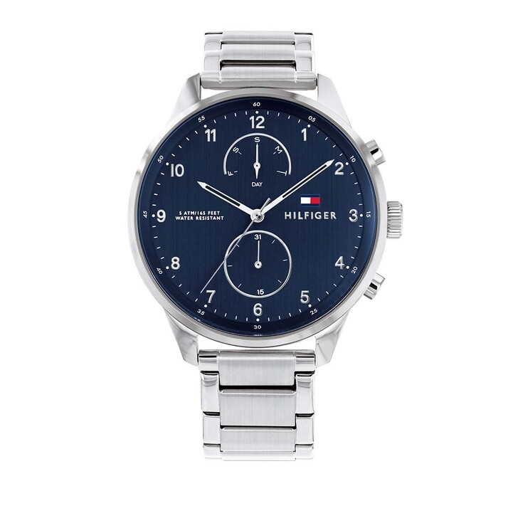 watches, Tommy Hilfiger, Multifunctional Watch Casual 1791575 Silver
