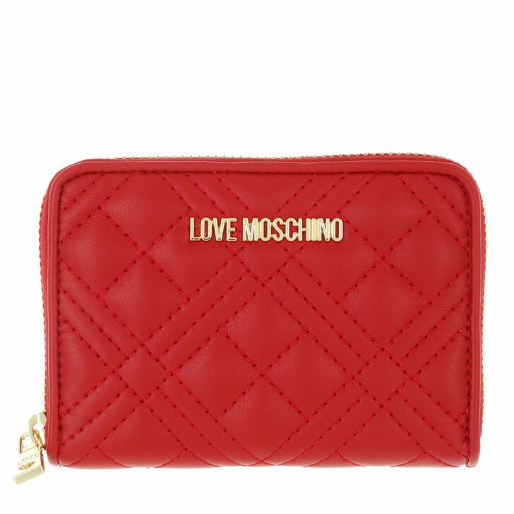 wallets, Love Moschino, Portafogli Quilted Pu Rosso