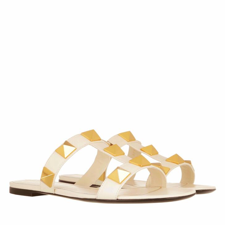 shoes, Valentino Garavani, Roman Stud Slide Sandals Light Ivory