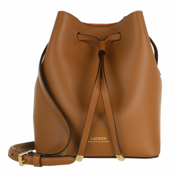 Handtasche, Lauren Ralph Lauren, Debby Ii Drawstring Mini Lauren Tan/Monarch Orange