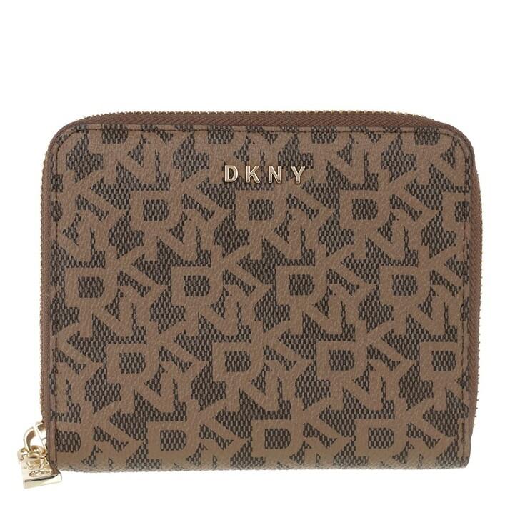 wallets, DKNY, Bryant Small Zip Around Wallet Mocha Caramel