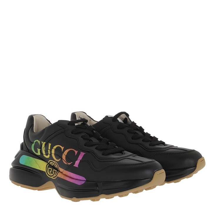 Schuh, Gucci, Rhyton Leather Sneakers Black