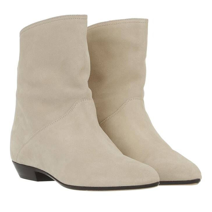 shoes, Isabel Marant, Solvan Ankle Boots Suede Leather Bronze