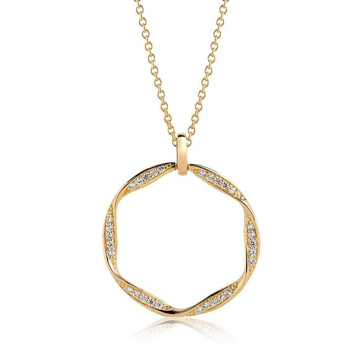 Kette, Sif Jakobs Jewellery, Cetara Grande Pendant 90cm Gold