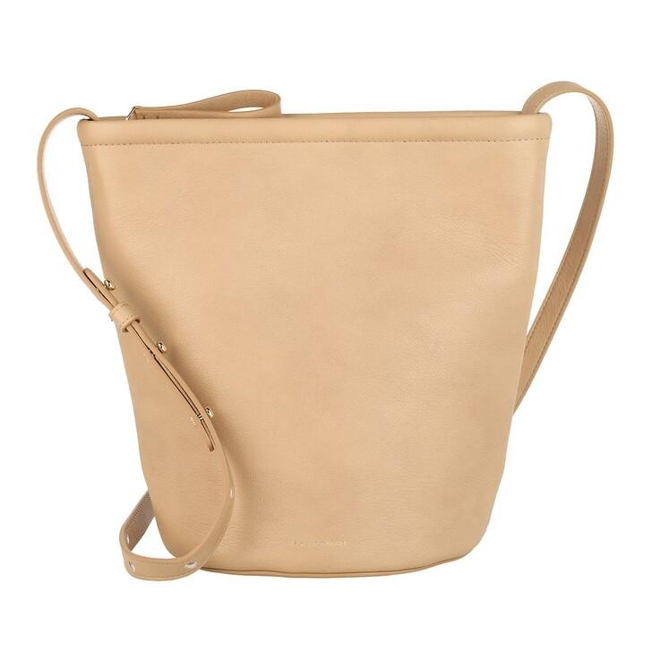 bags, Mansur Gavriel, Zip Bucket Bag Leather Nocciola