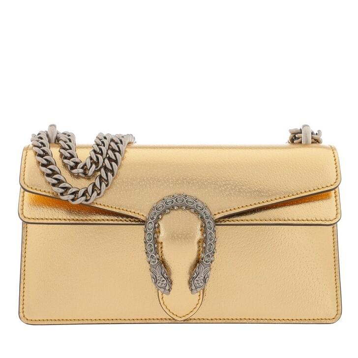 Handtasche, Gucci, Dionysus Small Shoulder Bag Leather Gold/Black
