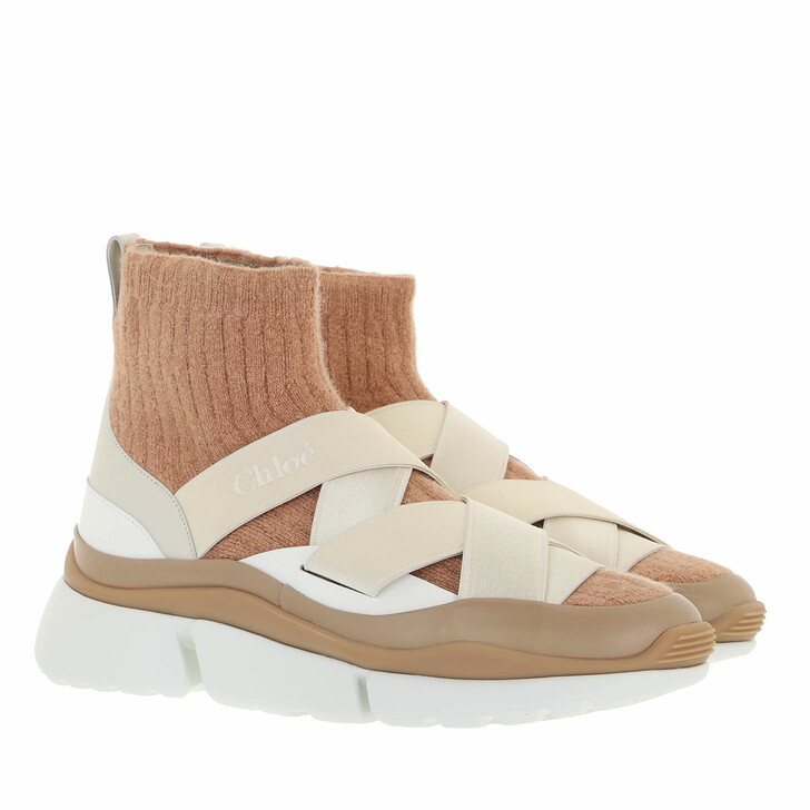 shoes, Chloé, Sonnie Sock Sneakers Lovely Beige