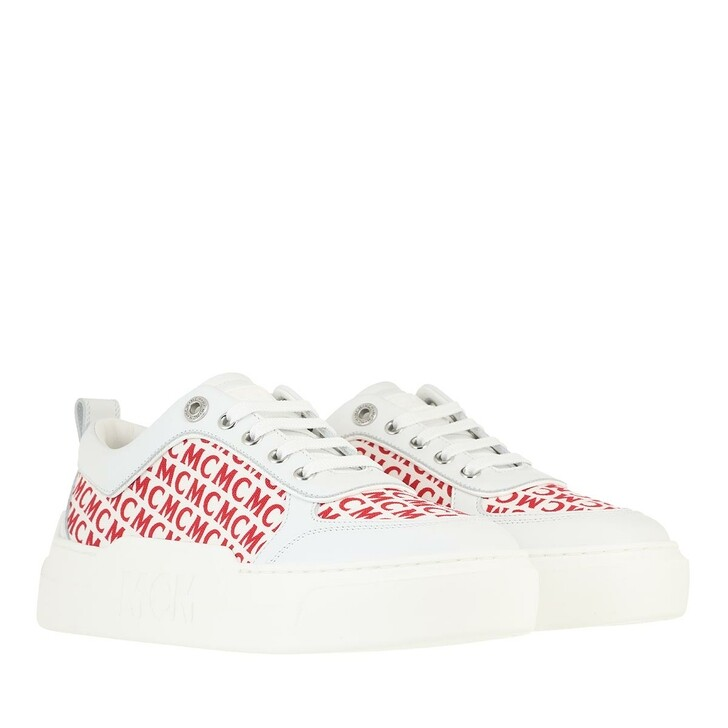 Schuh, MCM, Skyward Platform Canvas Monogram Red