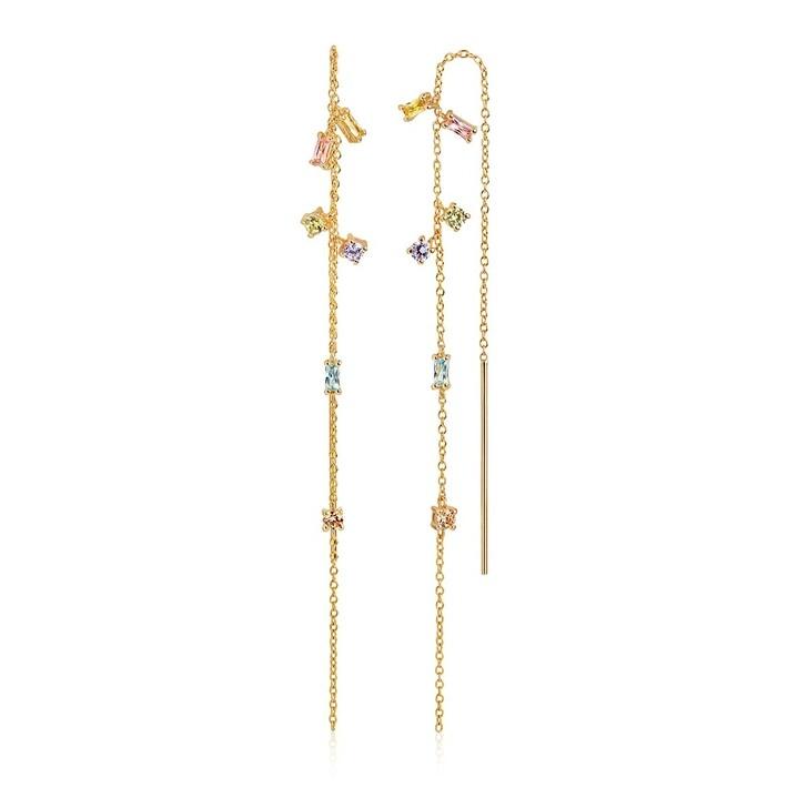Kette, Sif Jakobs Jewellery, Princess Chain Earpost Yellow Gold