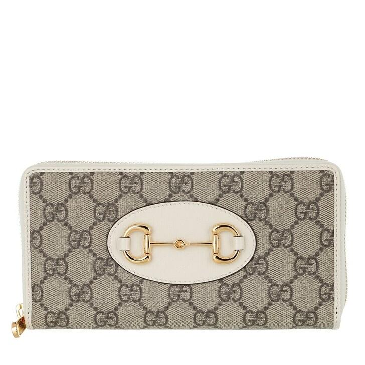 Geldbörse, Gucci, Horsebit Wallet Leather Ebony/White